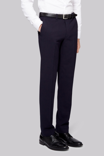 Moss London Skinny Fit Navy Seersucker Trouser