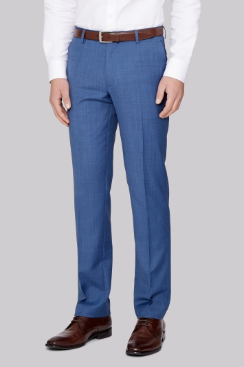 Ted Baker Tailored Fit French Blue Sharkskin Trouser