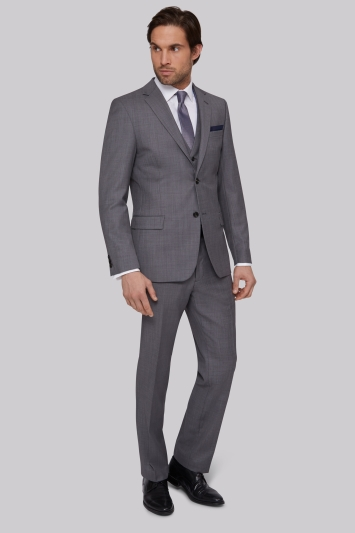 Ted Baker Tailored Fit Silver Grey Sharkskin Jacket