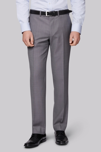 Moss 1851 Tailored Fit Silver Grey Pindot Trouser