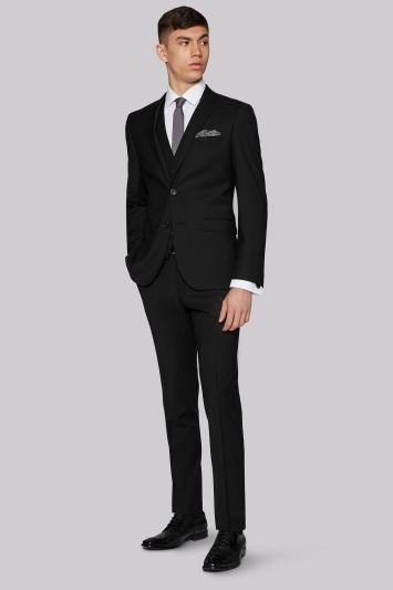 Moss London Performance Skinny Fit Black Jacket