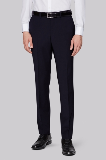 Moss London Performance Skinny Fit Navy Trousers