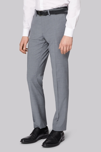 Moss London Performance Skinny Fit Light Grey Trousers