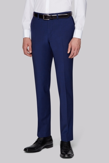 Moss London Performance Skinny Fit Bright Blue Trousers