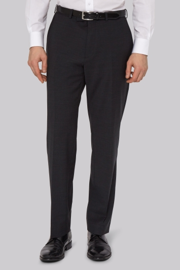 Moss Esq. Performance Regular Fit Charcoal Trousers
