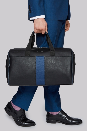 Ted Baker Black Striped Holdall Bag