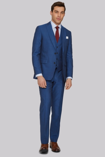 Moss 1851 Tailored Fit Peacock Blue Jacket
