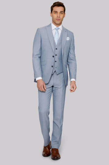 Moss 1851 Tailored Fit Ice Blue Jacket