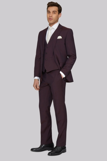 Moss 1851 Tailored Fit Burgundy Jacket