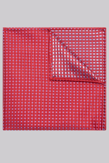 Moss Esq. Red Square Silk Pocket Square