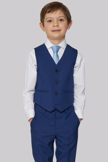 French Connection Bright Blue Waistcoat