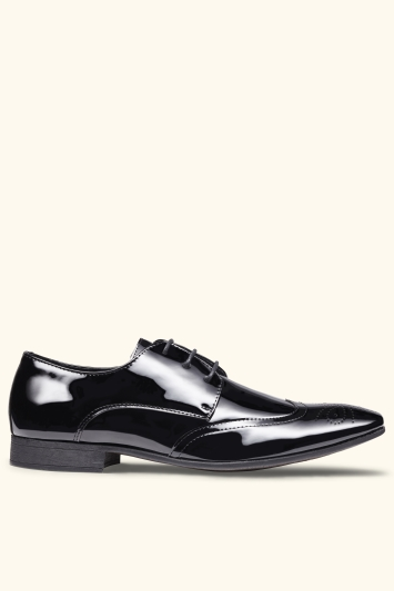 Moss London Hatchon Patent Brogue Dress Shoe