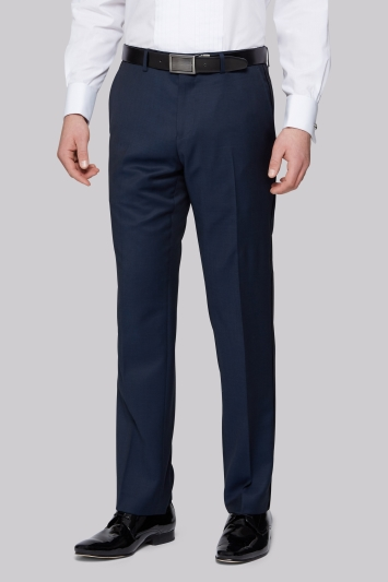 Moss 1851 Tailored Fit Teal Dress Trousers