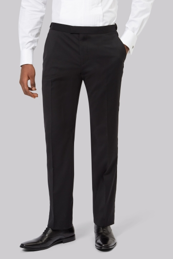 Moss 1851 Black Tailored Fit Performance Dress Trousers