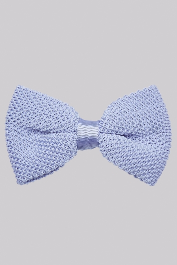 Moss London Sky Knit Bow Tie