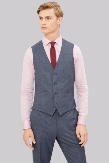 French Connection Slim Fit Airforce Texture Waistcoat
