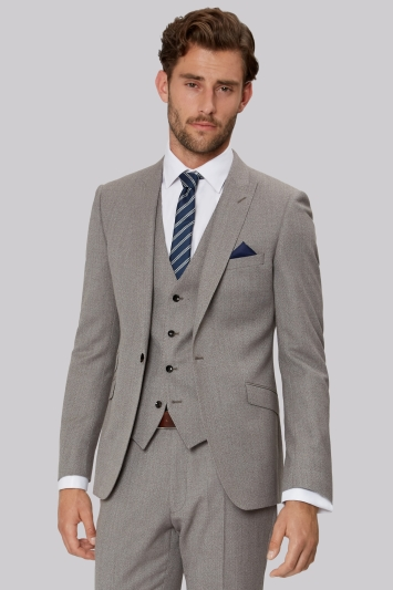 French Connection Slim Fit Neutral Semi Plain Jacket