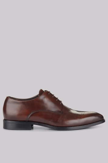 John White Bondway Brown Rose Toe Cap Derby Shoe