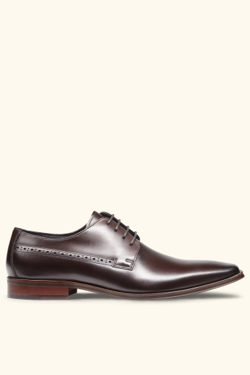John White Ainesworth Brown Punched Derby Shoe