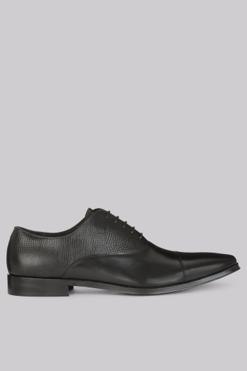 John White Harley Black Toe Cap Oxford
