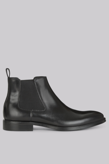 John White Admiral Black Chelsea Boot