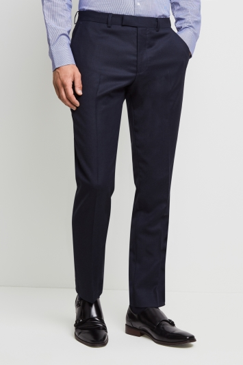 Moss 1851 Tailored Fit Navy Birdseye Trousers