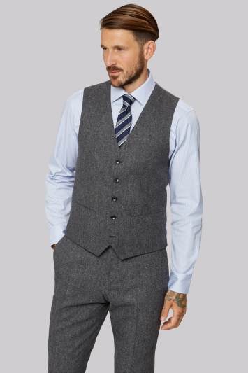 Moss 1851 Grey Donegal Waistcoat