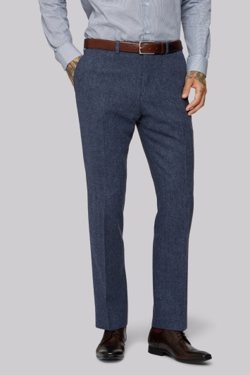 Moss 1851 Blue Donegal Trousers