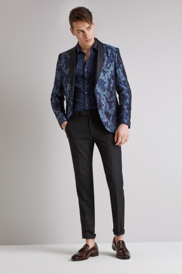 Moss London Blue Merman Shawl Jacket