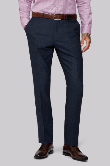 Moss 1851 Tailored Fit Navy Speckled Trouser