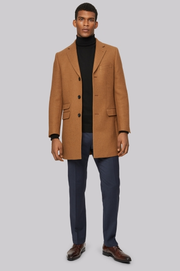 Moss 1851 Camel Double Face Overcoat