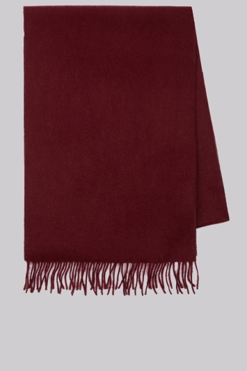 Moss 1851 Wine Wool Scarf