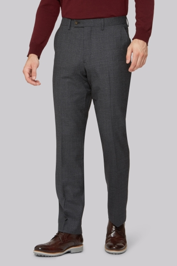 Ted Baker Tailored Fit Charcoal Melange Trousers