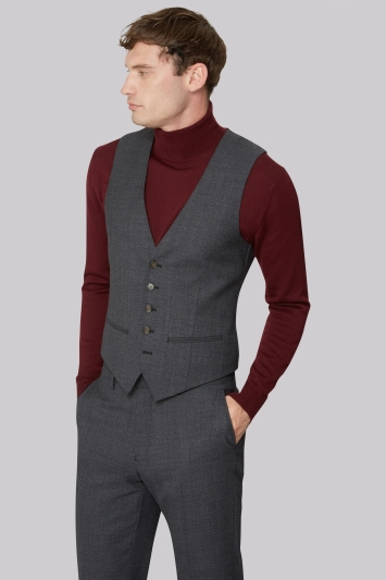 Ted Baker Tailored Fit Charcoal Melange Waistcoat