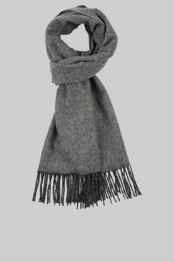 DKNY Charcoal Plain Wool Scarf