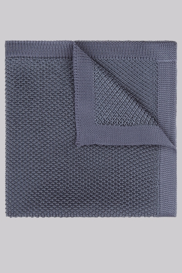 Moss London Petrol Knit Pocket Square