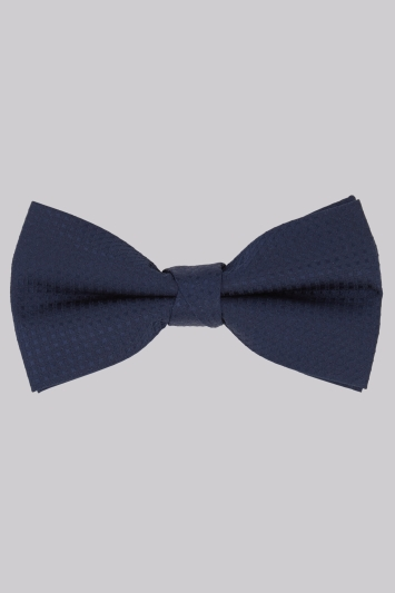 Moss 1851 Navy Diamond Texture Bow Tie