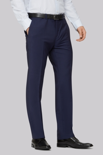 Hardy Amies Tailored Fit Blue Trousers