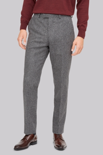 Hardy Amies Grey Textured Trousers