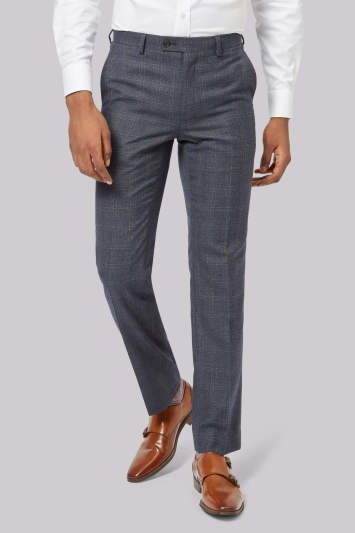Ted Baker Tailored Fit Blue CheckTrousers