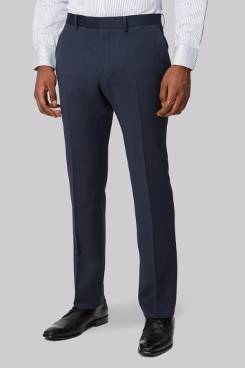 Moss 1851 Tailored Fit Blue Marl Twill Trouser