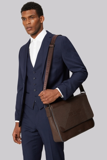 Ted Baker Chocolate Embossed Messenger Bag