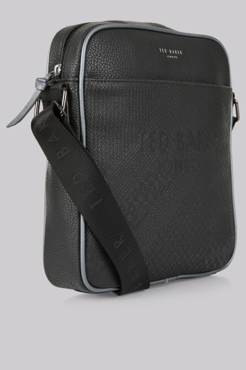 Ted Baker Black Embossed Flight Bag