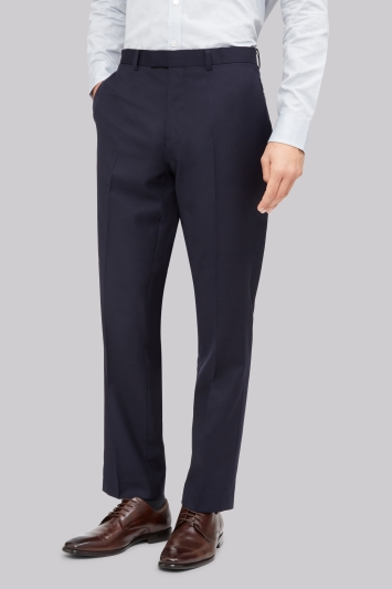 Hardy Amies Tailored Fit Navy Trousers