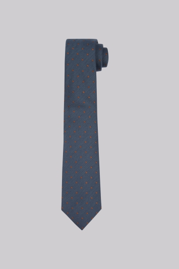 Hardy Amies Teal & Copper Spot Tie