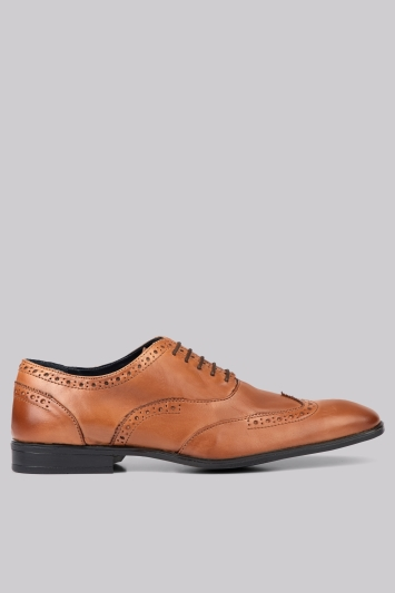 Moss London Hamilton Brogue Tan