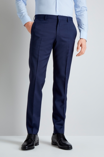 Navy Semi Plain Mix and Match Trousers