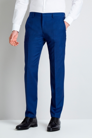 HUGO by Hugo Boss Bright Blue Pindot Trousers