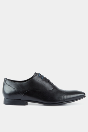Moss London Camley Toe Cap Oxford Brogue Black