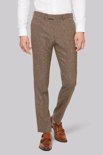 Moss London Rust Donegal Trousers